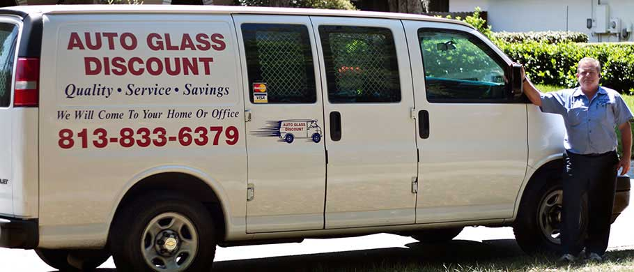 Auto Glass Discount repairs cracked windshields