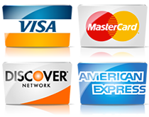 Auto Glass Discount payment options visa mastercard discover american express logo